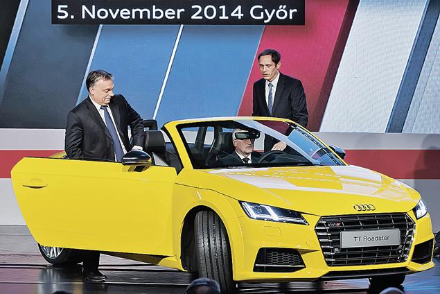 США и ЕС быстро поставили венгерского премьера Виктора Орбана на место. Он (на фото слева) забыл о планах интеграции с Россией и теперь с радостью открывает завод по производству германских авто Ауди. Фото: GLOBAL LOOK PRESS