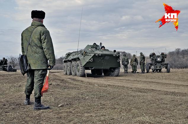 В крымских воинских частях начались учения и полевые выходы. В украинском Крыму бойцы даже не ходили на стрельбище. Фото: Анастасия МЕДЫНЦЕВА
