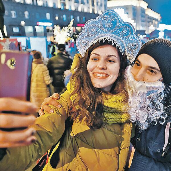 Новый год на улицах Москвы