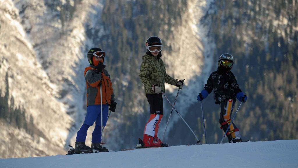 дети на лыжах