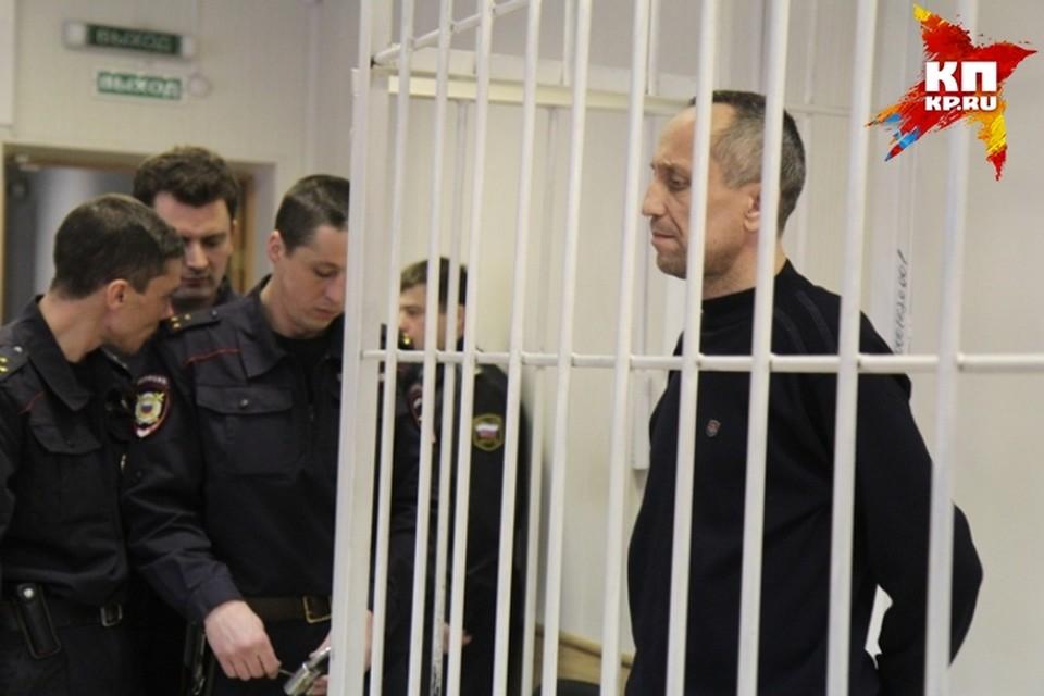 Михаил Попков во время суда в 2015 году.