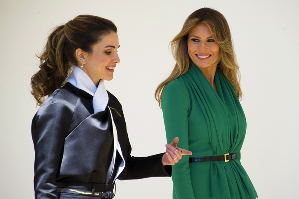 Дональд Трамп с супругой приняли у себя в Белом доме гостей из Иордании – короля Абдаллу II и его жену Ранию.