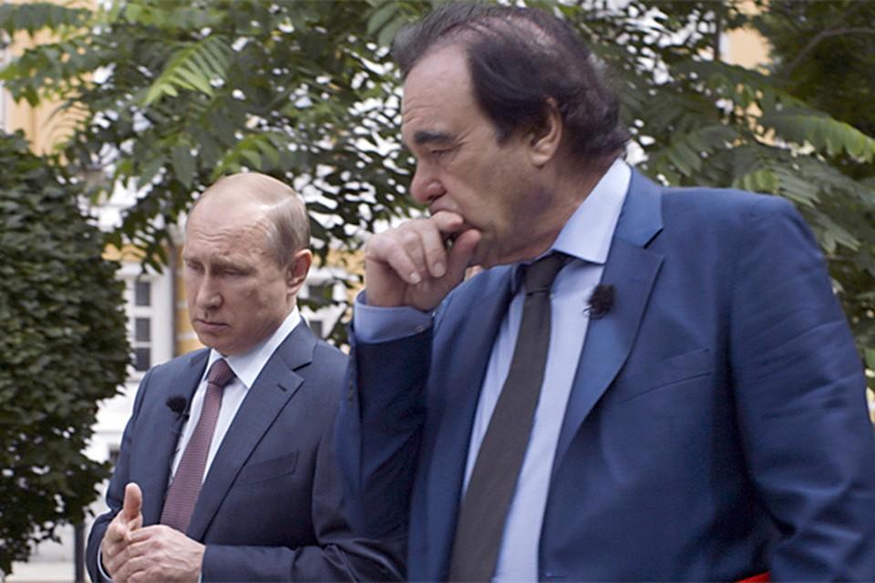 "Кадр из фильма Оливера Стоуна ""Путин""."