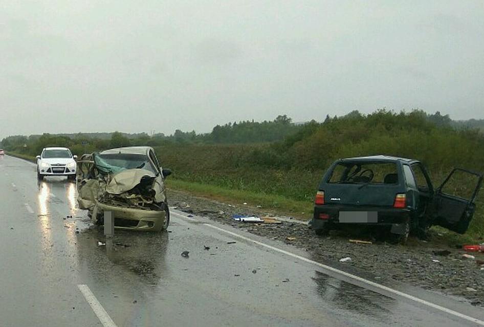 ВБелорецком районе столкнулись три машины: один человек умер