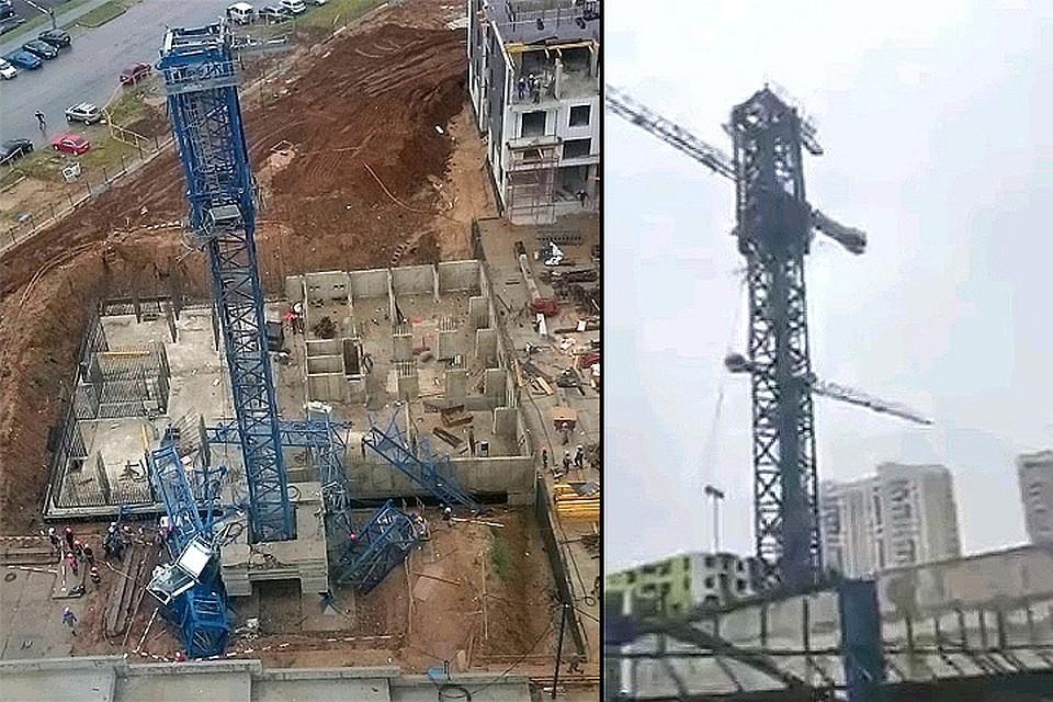 ВХимках в итоге падения башенного крана умер человек