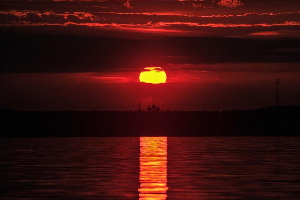 Закат над Горьковским водохранилищем