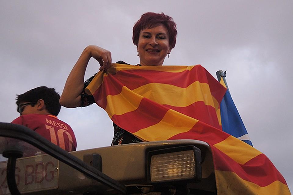 """Дарья Асламова на так называемой """"Демонстрации независимости"""""""