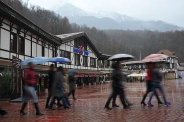 В Сочи из-за непогоды потерялись туристы