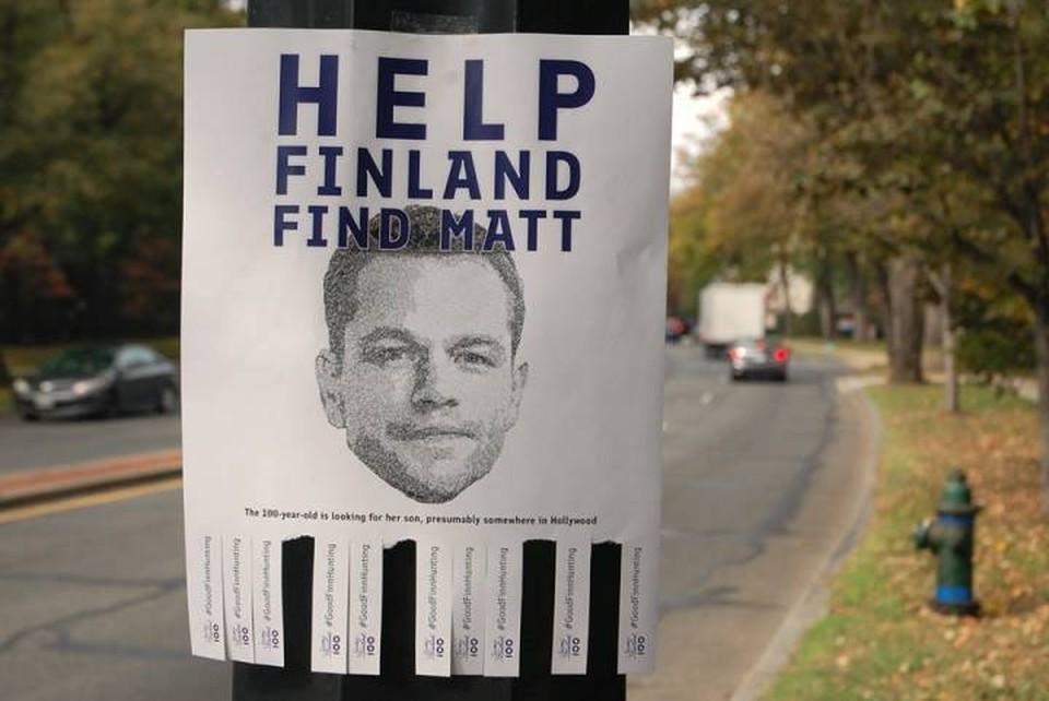 Финское посольство в США ищет Мэтта Деймона