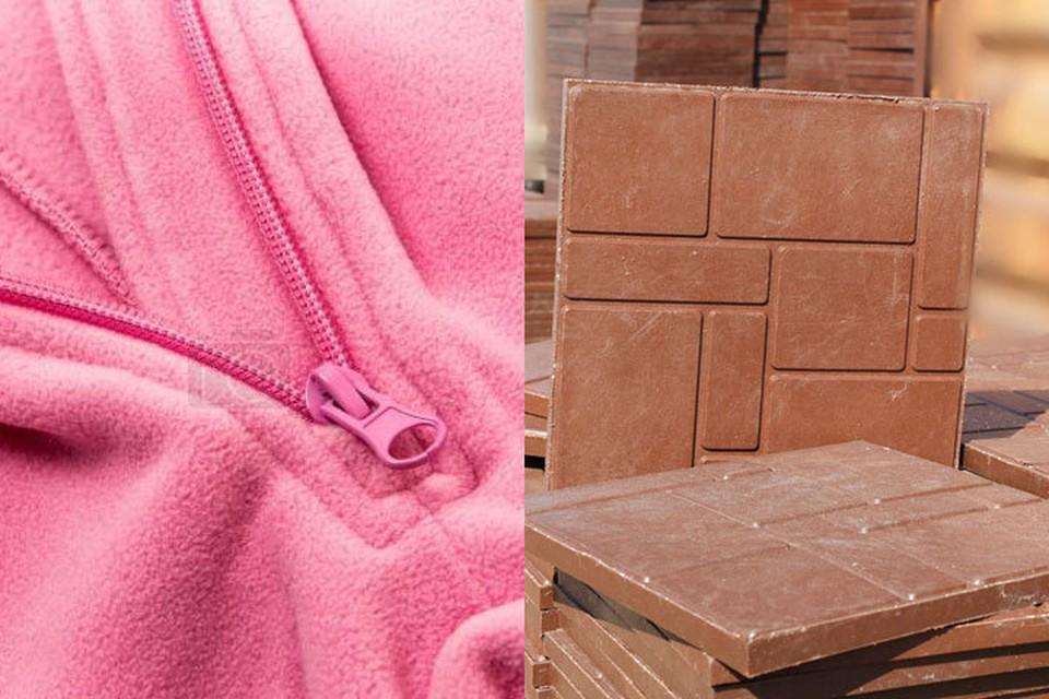 Из вторично переработанного пластика можно делать и одежду (флисовая кофта), и строительный материал.