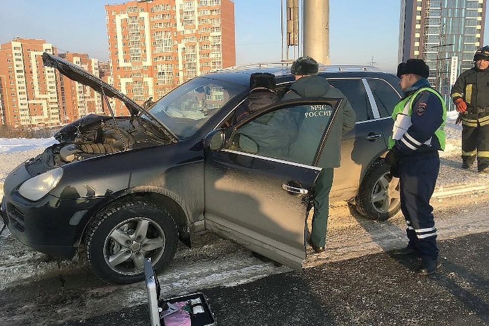 В крыму девушка на порше попала в аварию