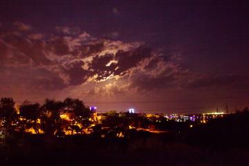 Лунное затмение 31 января 2018 в Перми
