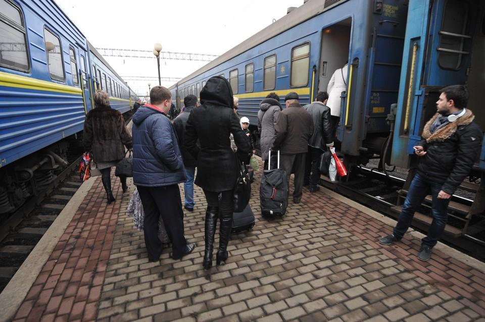 Три поезда, курсирующие из Украины в Россию, оказались самыми прибыльными