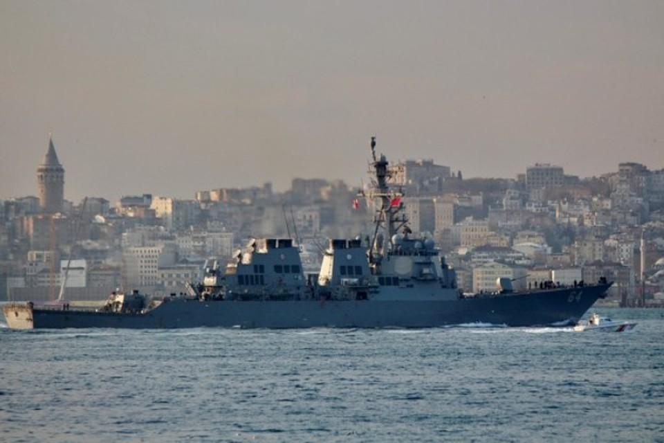 Американский эсминец Сarney