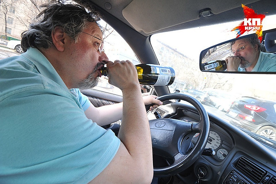 Поймали пьяного за рулем без прав