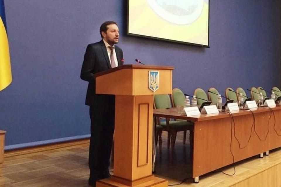 Упавший в обморок министр информационной политики Украины Юрий Стець