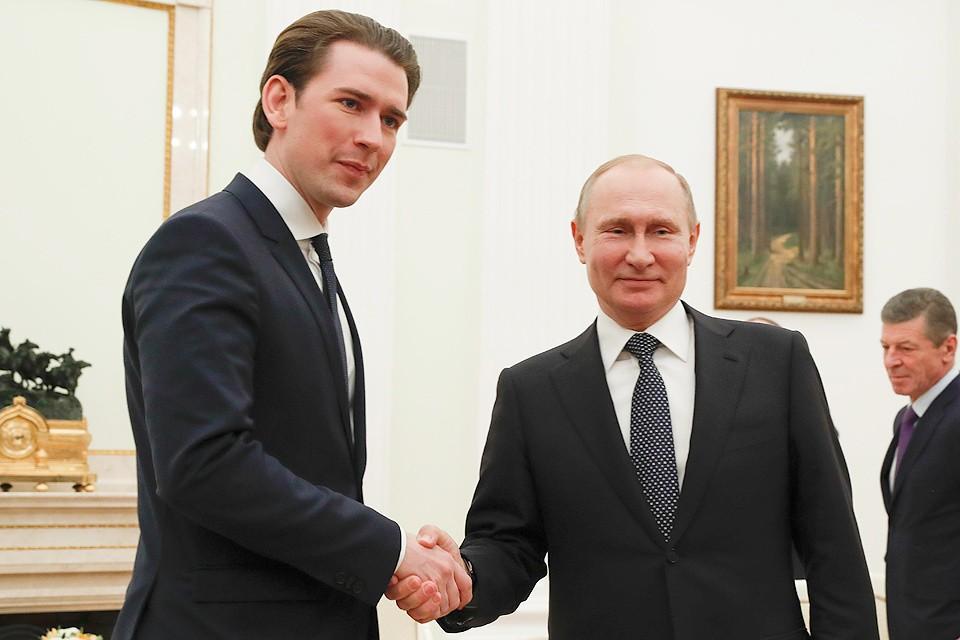 На встрече с Путиным, Себастьян Курц подчеркнул, что дружеские отношения с Россией являются для Австрии приоритетом во внешней политике.