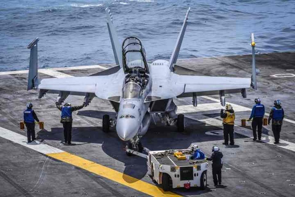 Американский палубный истребитель-бомбардировщик F/A-18 Super Hornet
