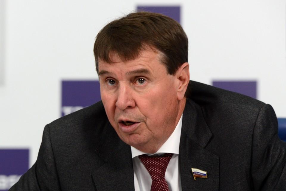 Член комитета Совета Федерации по международным делам Сергей Цеков. Фото: Николай Галкин ТАСС