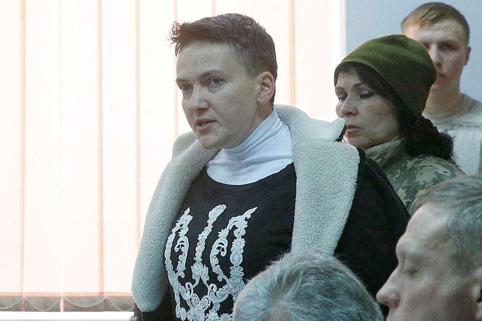 Надежда Савченко в помещении киевского суда, март 2018 г.