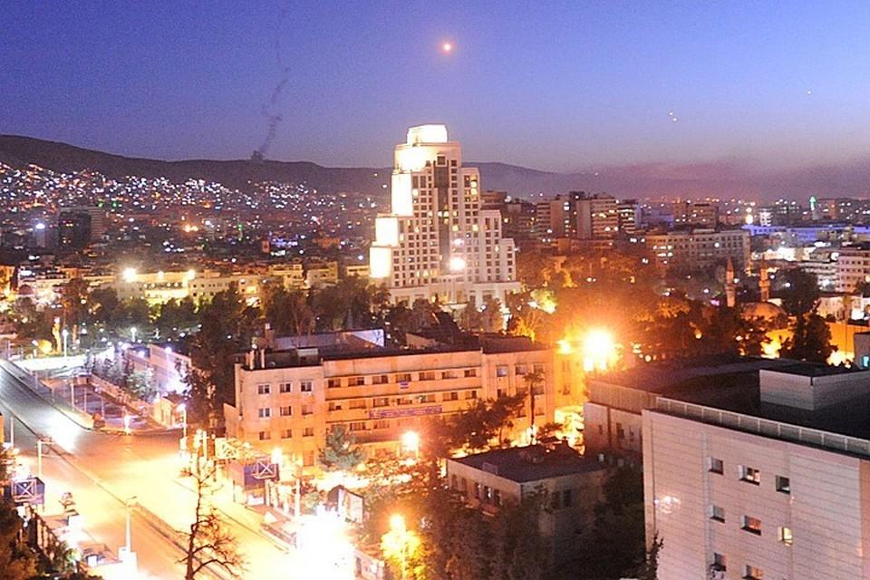 Дамаск за несколько минут до ракетного обстрела в ночь на 14 апреля