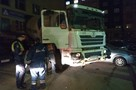 В Санкт-Петербурге водитель бетономешалки разбил шесть автомобилей