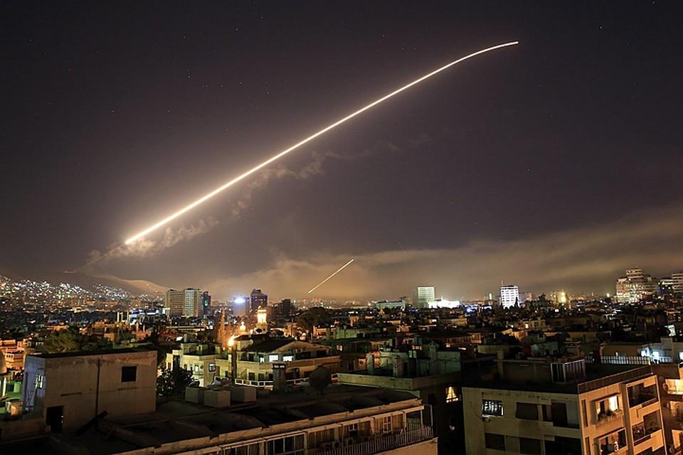 США, Великобритания и Франция 14 апреля выпустили по Сирии более 100 ракет