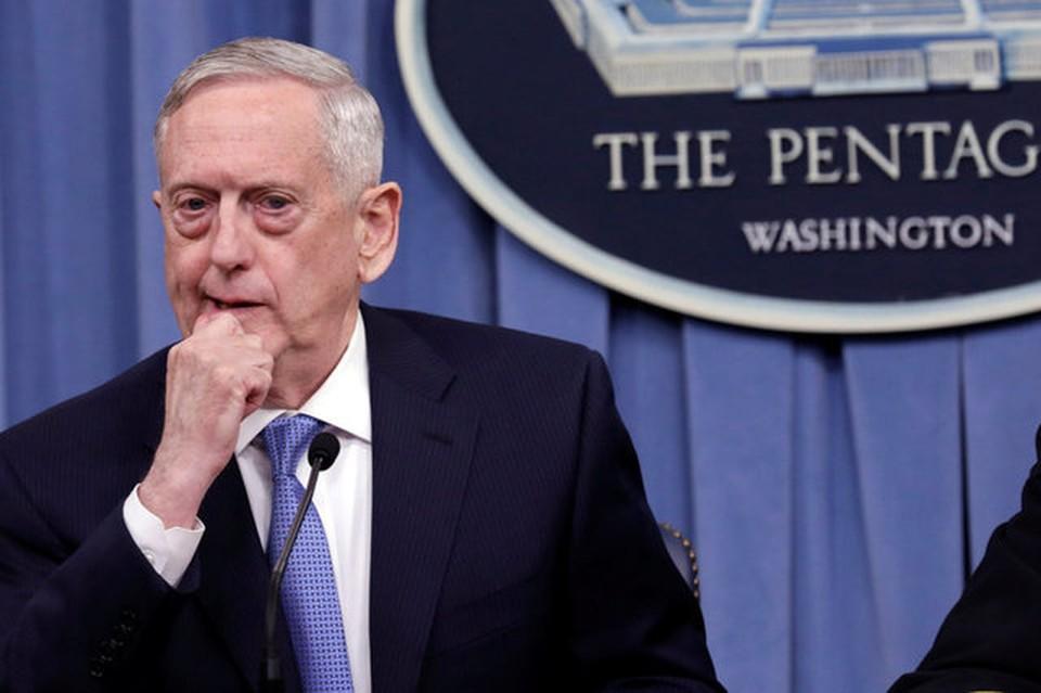 Глава министерства обороны США Джеймс Мэттис