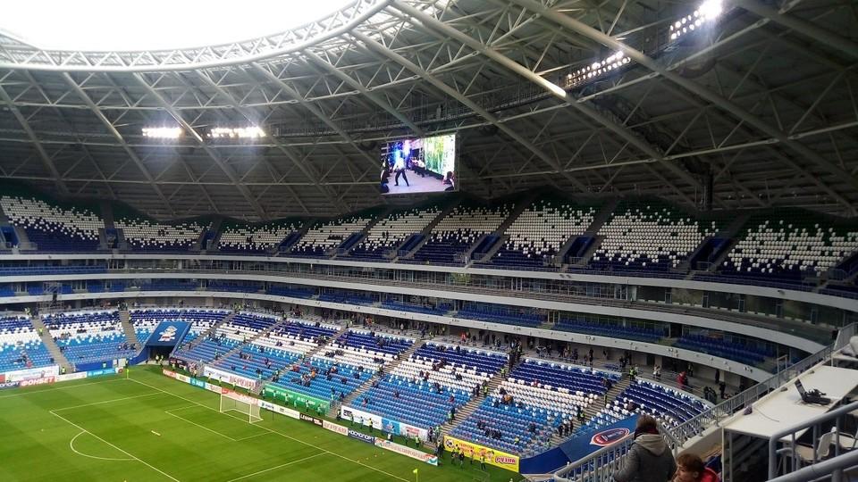Так выглядела арена перед матчем
