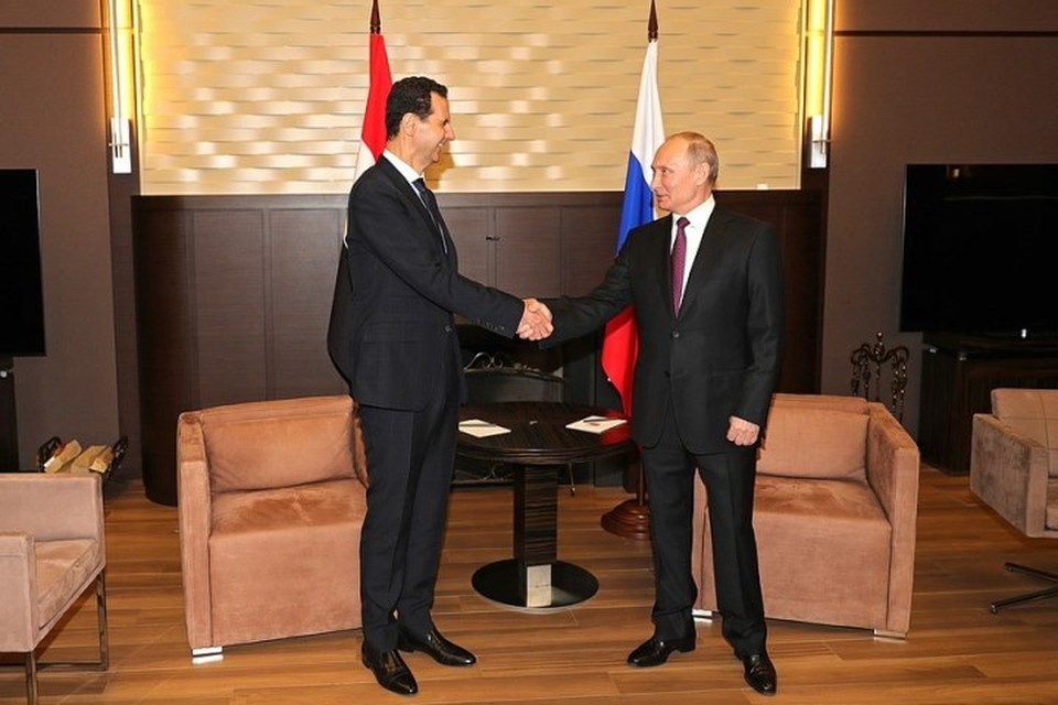 Президент РФ Владимир Путин провел встречу со своим сирийским коллегой Башаром Асадом