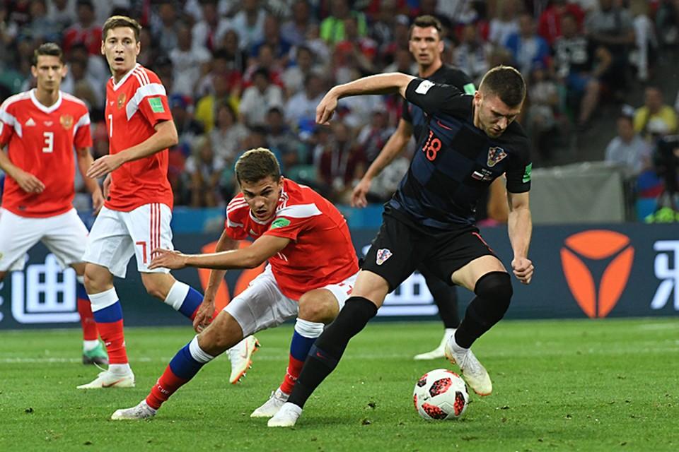 Сборная России проводит исторический матч на чемпионате мира по футболу 2018