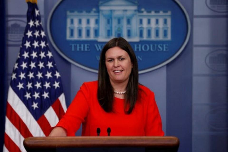 Официальный представитель Белого дома Сара Сандерс