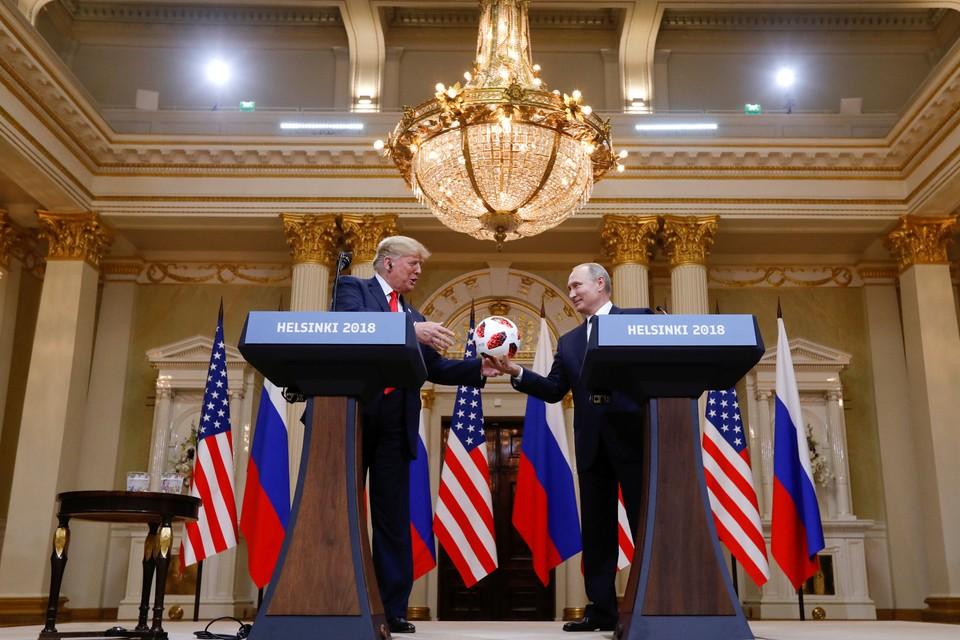 Пресс-конференция Трампа и Путина в Хельсинки