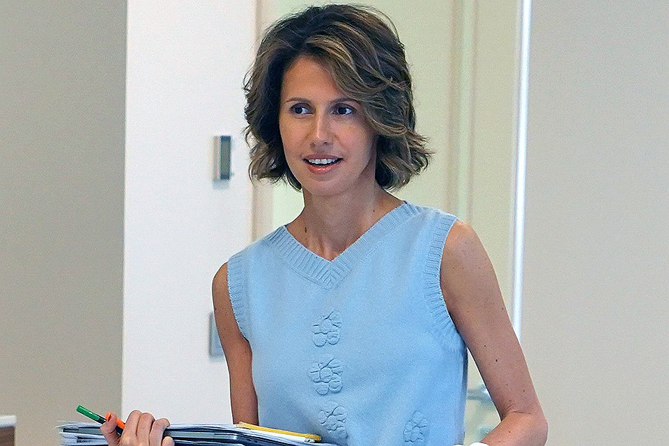 Супруга президента Сирии Асма Асад. ФОТО Твиттер Presidency_Sy