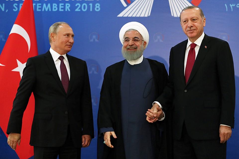 Очередной саммит с участием президентов России, Турции и Ирана состоялся в Тегеране
