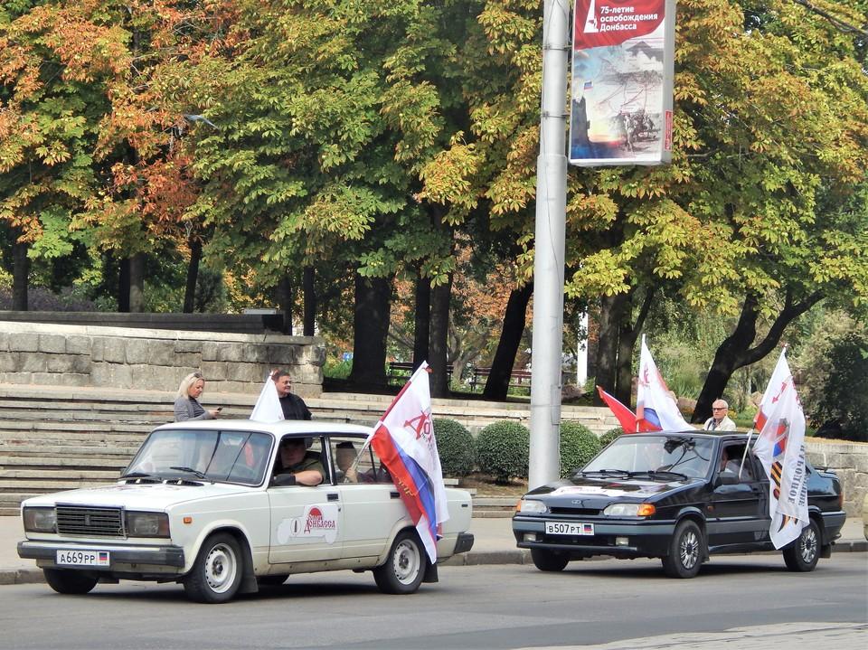 В ходе пробега колона проехала 227 км и посетила 7 городов ДНР