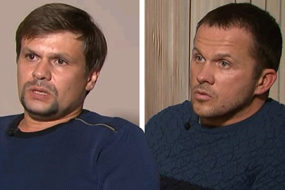 Руслан Боширов и Александр Петров во время интервью Маргарите Симоньян. ФОТО Russia Today / Youtube