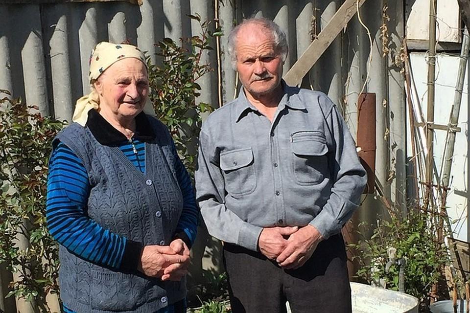 Русские жители деревни Ивановка в Азербайджане Иван Михайлович и Мария Васильевна Орловы.