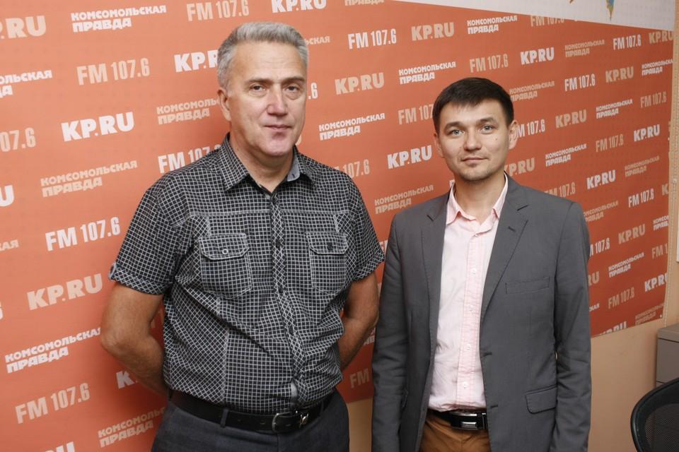 Андрей Елисеев, художественный руководитель и главный дирижер Академической хоровой капеллы и Иван Рудин, главный администратор