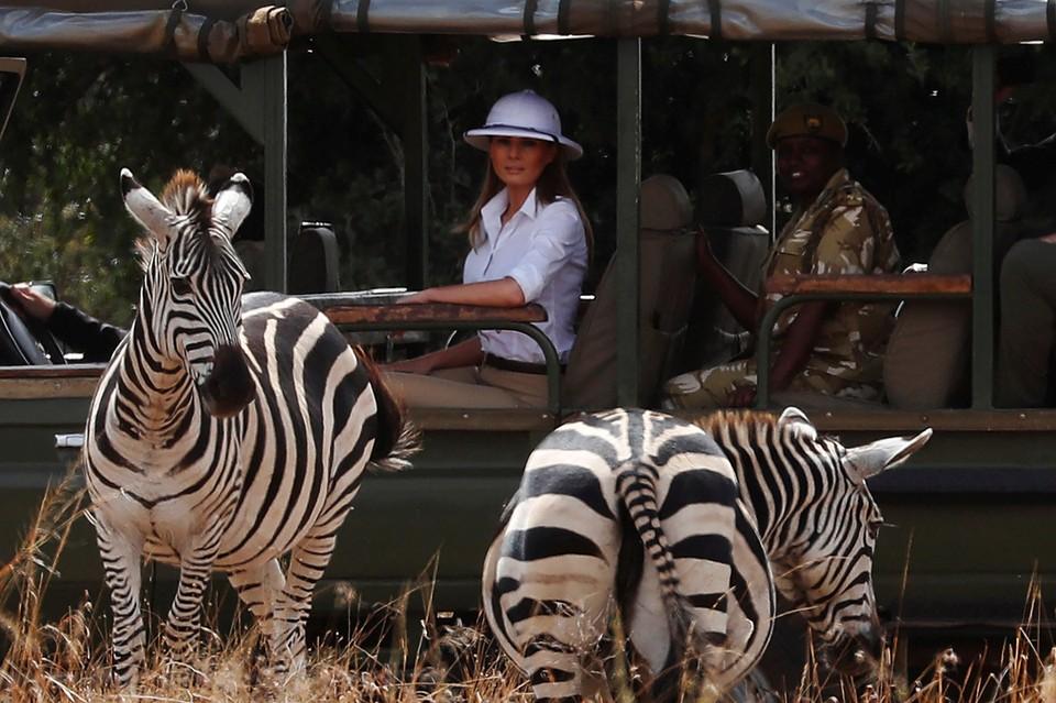 Меланья Трамп в Найроби посетила Фонд охраны дикой природы Девида Шелдрика (DSWT)