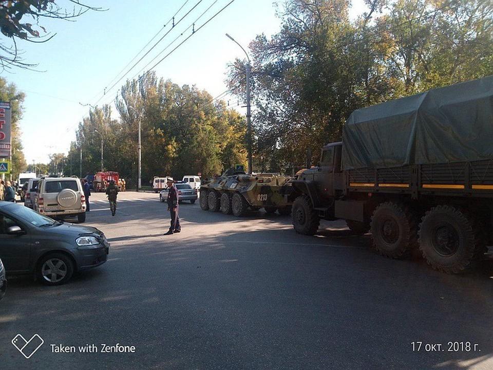 На месте взрыва в Керченском политехническом колледже. Фото: предоставлено очевидцем