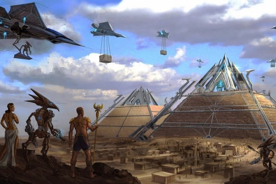 Мало кто верил, что древние египтяне построили пирамиды без посторонней помощи.