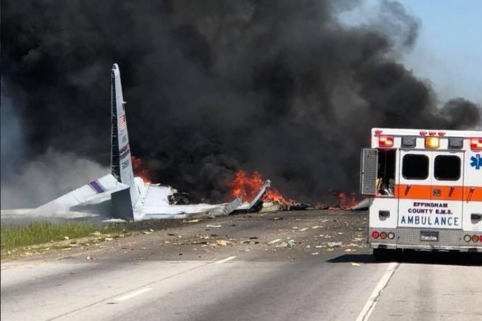 Крушение военного самолета С-130 в Джорджии 2 мая 2018 года