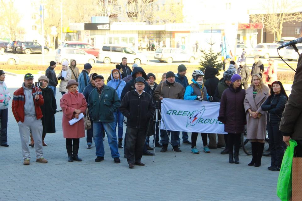 На митинге собралось около 60 человек. Фото: предоставлено организаторами