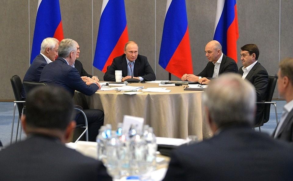 Путин потребовал от чиновников конкретных результатов