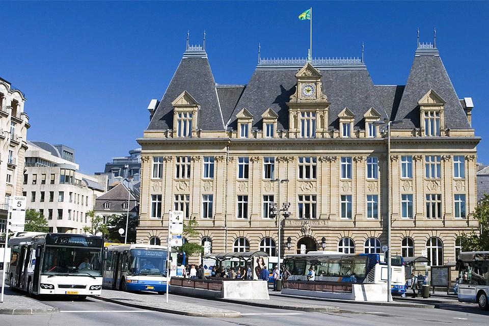 Автобусная станция в Люксембурге.