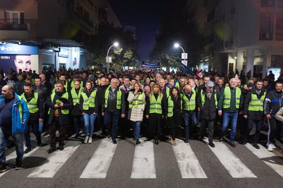 В акции протеста приняли участие члены нескольких оппозиционных движений и общественных организаций
