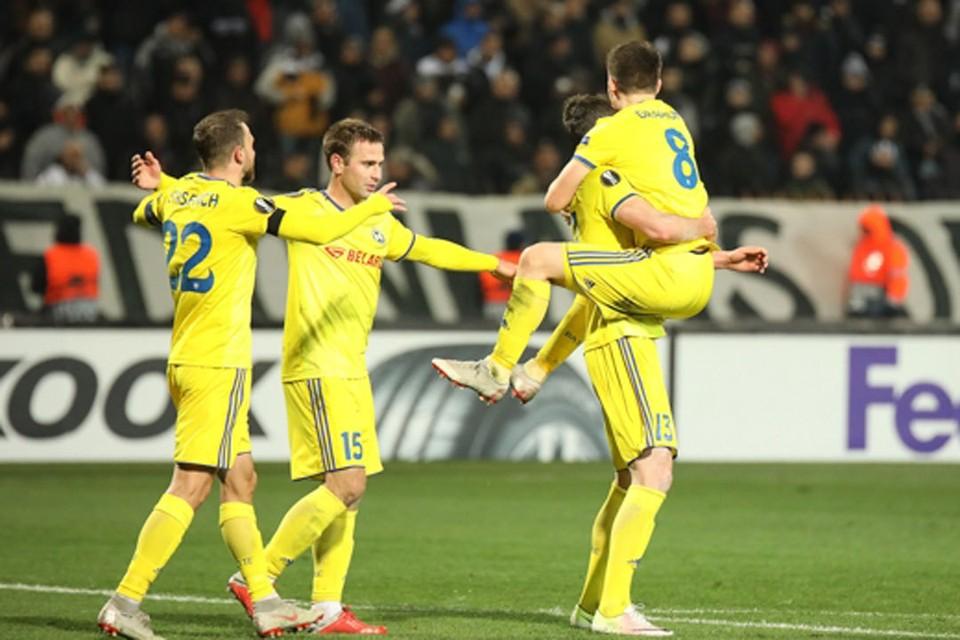 БАТЭ сыграет в плей-офф Лиги Европы в третий раз за свою историю. Фото: fcbate.by