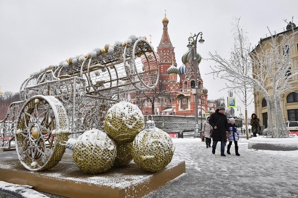 В четверг, 20 декабря, в Москве ожидается слабый снег и до -13 градусов