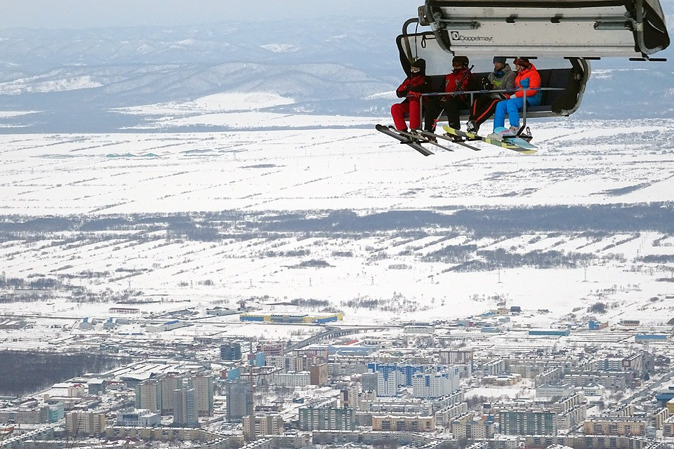 Южно-Сахалинск. Спортивно-туристический комплекс `Горный воздух`.